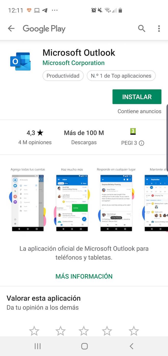 Si tienes un correo Hotmail iniciar sesión desde Android es posible y fácil con la app Microsoft Outlook