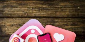 Interfaz de Instagram con movil