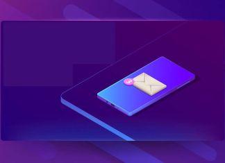 Grafica de smartphone con el icono de SMS
