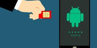 Ilustración de tarjeta SIM y smartphone