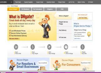 Captura de pantalla de la página web DHGate.com