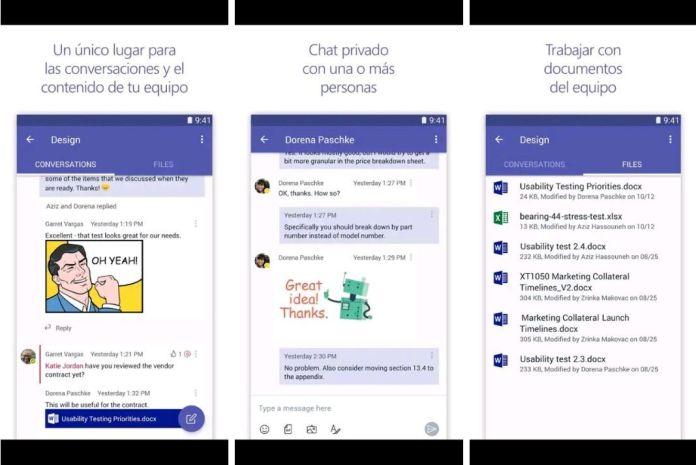 Pantallazo de la aplicación de Microsoft Teams