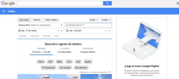 Google Flights en España