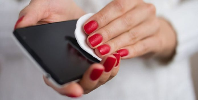 desinfectar el móvil