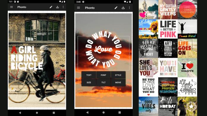 Phonto es una de las app más usadas para escribir texto en las fotos.