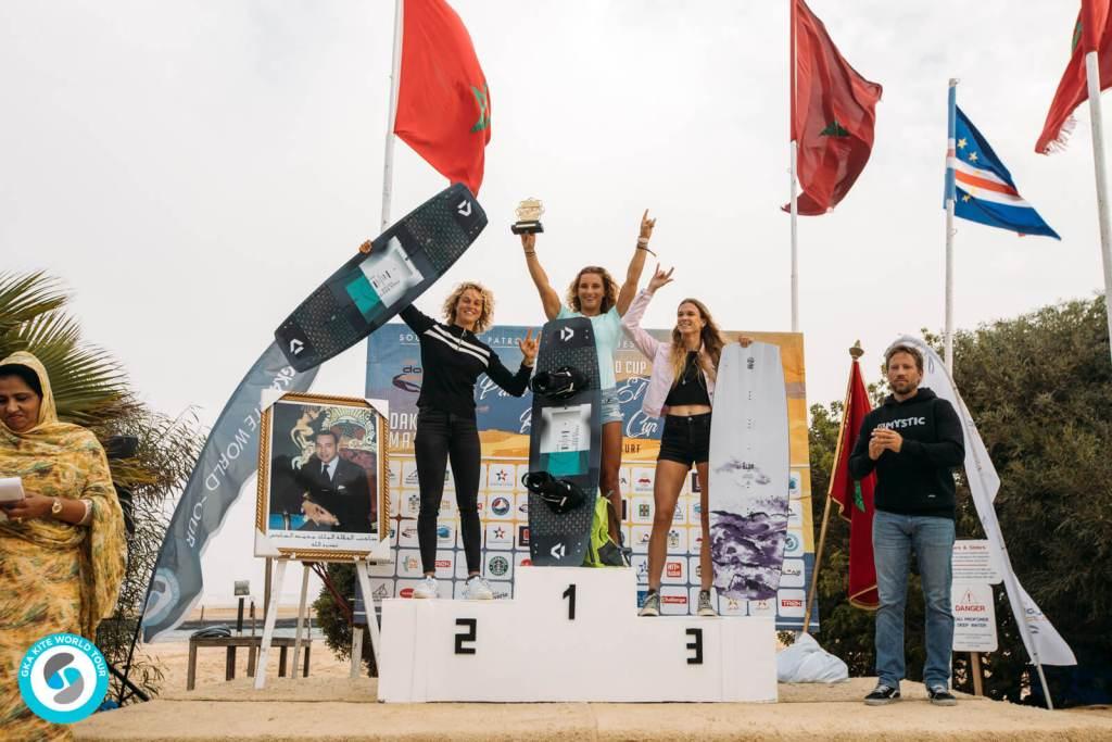 Women's Best Trick podium