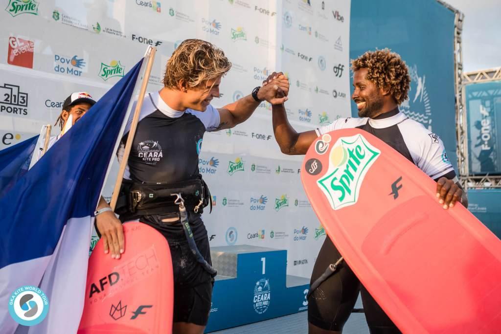 Camille and Mitu on the podium