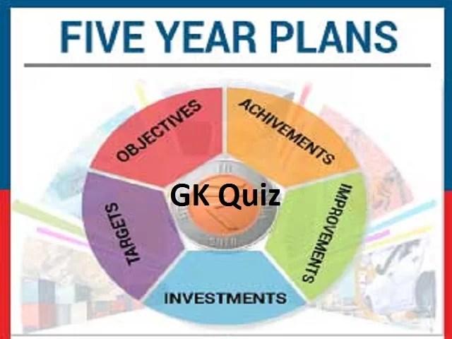 Five Year Plan MCQ