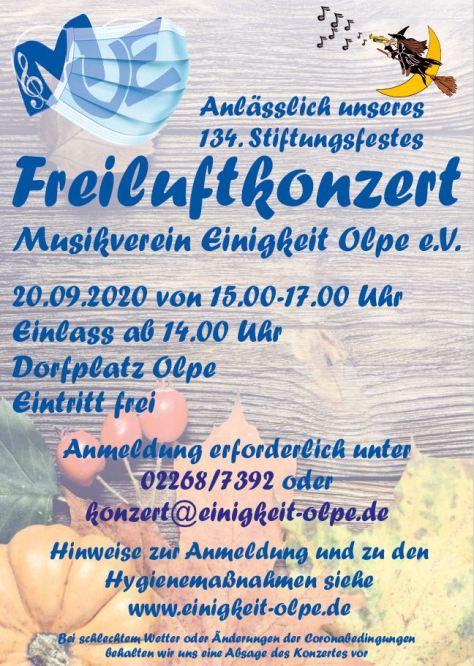 Freiluftkonzert des MVE am 20.09.2020 von 15:00-17:00 Uhr