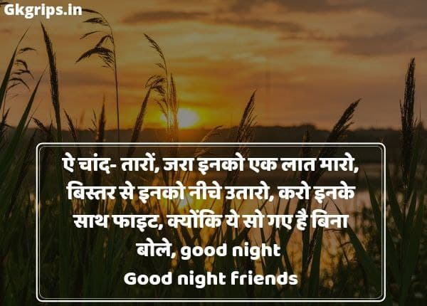 Good Night Funny Quotes in Hindi