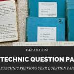 Polytechnic previous year question papers