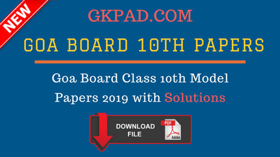 SOLVED] GOA Board SSC Question Papers 2019 Class 10th | GBSHSE
