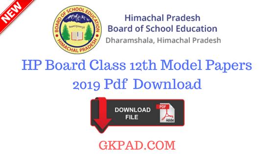 Himachal Pradesh Board Model Paper 2020 class 12th (Hpbose