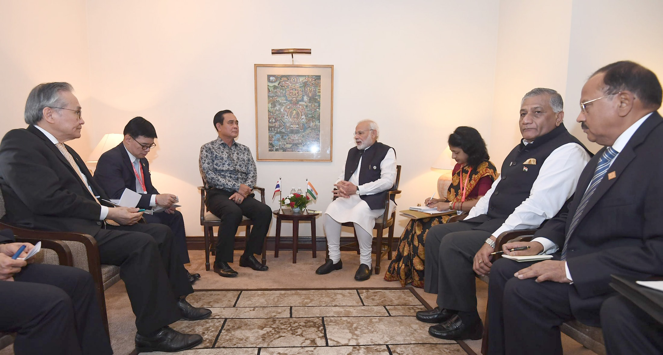Maithripala Sirisena and narendra modi at kathmandu in Bimstec Summit 2018