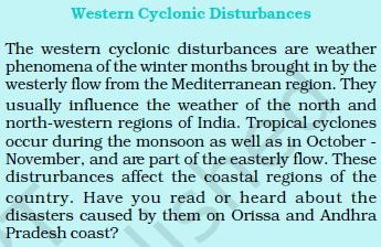 western cyclonic disturbances