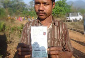 Biometric Ration Cards printed by the GK Printhouse for Vizianagaram Distric