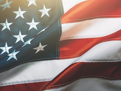 VA Disability Benefits American Flag