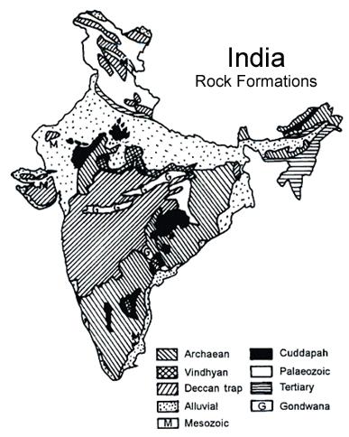 India's Rock Formation: Archean, Dharwar, Cudappah, Vindhyan