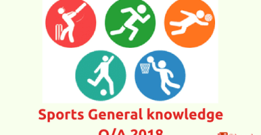 Sports- General knowledge Questions and Answers 2018