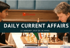 Current Affairs General Knowledge 17 January 2019