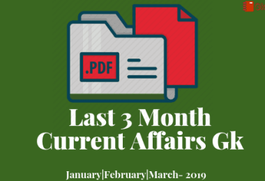 [PDF] Last 3 Months General knowledge & current affairs GK-2019