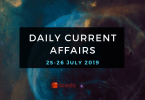 Daily Current Affairs Questions 25-26 July 2019