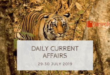 Daily Current Affairs Questions 29-30 July 2019