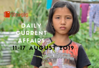 Daily Current Affairs Questions 11-17 August 2019
