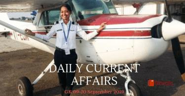 Current Affairs 09-10 September 2019 - Hindi