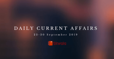 Daily Current Affairs Questions 23-30 September 2019