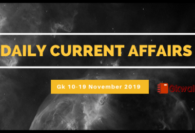 Current Affairs 10-19 November 2019 - Hindi