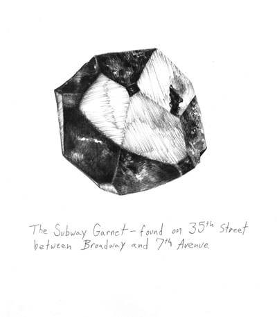 Ilana Halperin's Subway Garnet. Courtesy the artist.