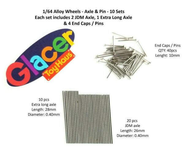 Axle and Pin Replacement - 10 sets per pack - Universal