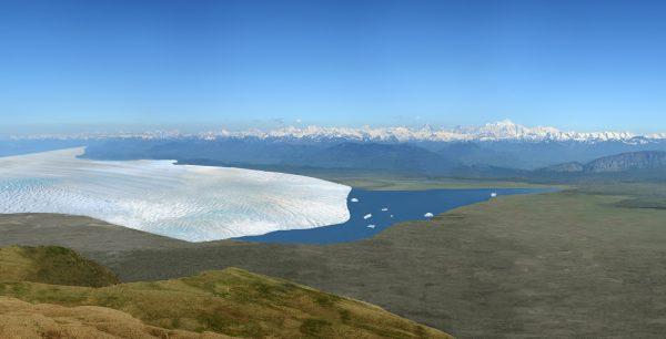 Reconstitution du retrait du glacier du Rhône dans le Petit Lac