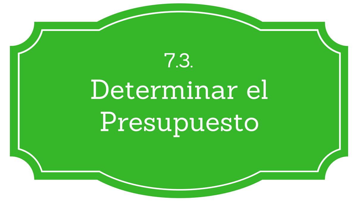 7.3. Determinar el Presupuesto del Proyecto - Project Management ... cd0a28579fb63