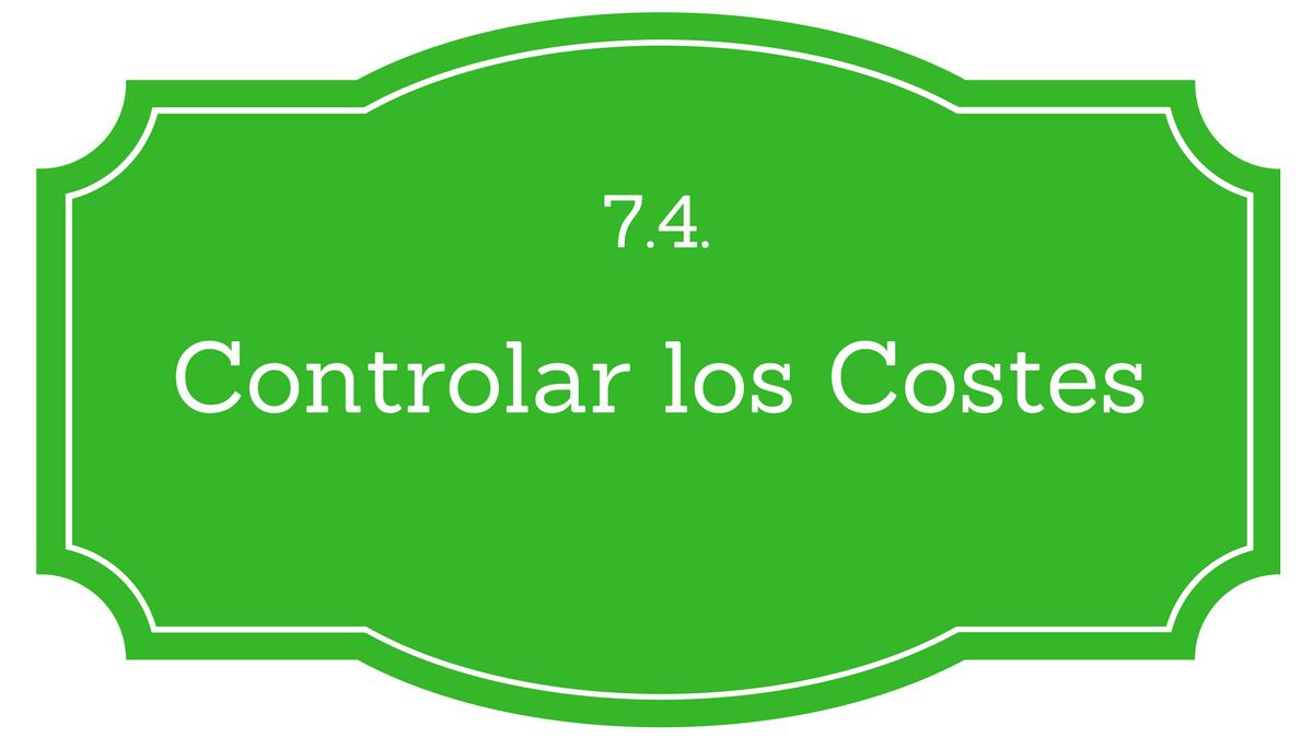 Controlar los costes PMBOK