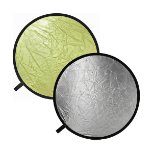 Bowens 107cm Reflector Disc Gold/ Silver