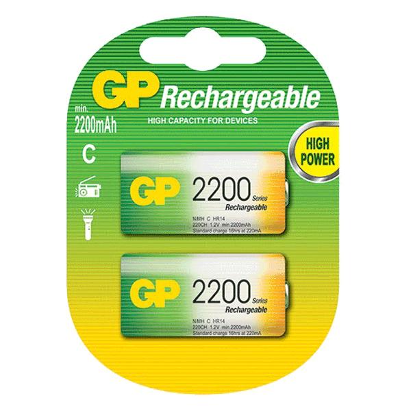 GP NiMh Rechargeable C-Size 2200Mah