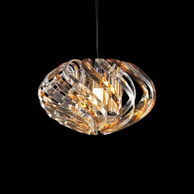 Basik Polaris Crystal Pendant Clear Honey