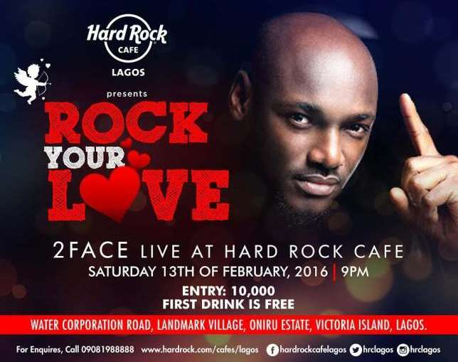 2 Face Idibia To Perform At Hard Rock Caf Lagos This Weekend