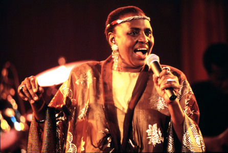 Mandatory Credit: Photo by Guido Fua/REX/Shutterstock (817116c) Miriam Makeba Miriam Makeba in concert, Rome, Italy - 01 Mar 1993
