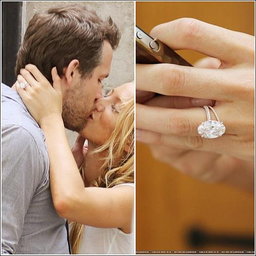 blake lively and ryan reynolds show off wedding rings