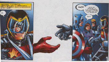 Uno dei momenti migliori della saga: il confronto US Agent-Capitan America !!!