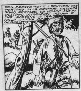 "L'immagine di un trapper tra ""Il grande Blek"""