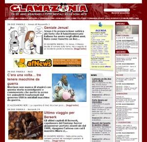 L'ultima homepage di Glamazonia v2.0