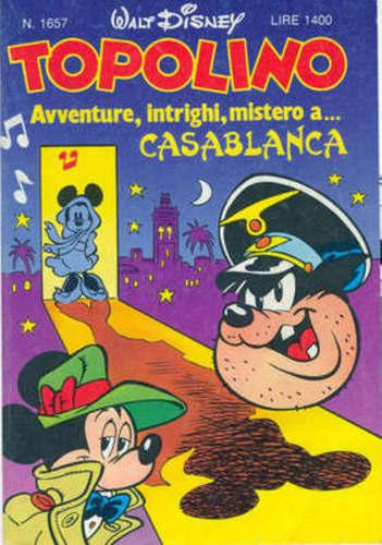 Copertina dell'albo Topolino N. 1657  del 30 agosto 1987