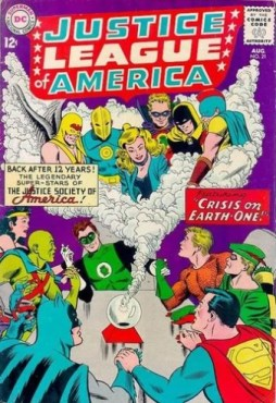21) Crisis on Earth-One! (Fox/Sekowsky) (08/63- Protagonista Justice League + JSA)