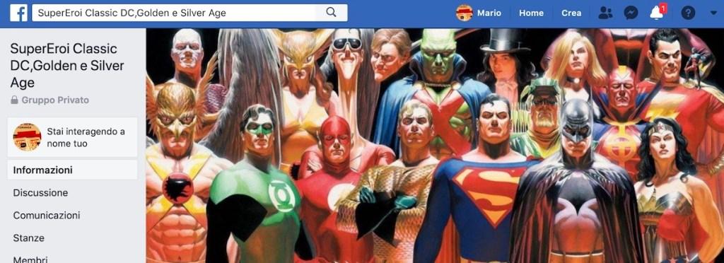 banner del gruppo  SuperEroi Classic DC, Golden e Silver Age