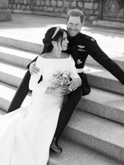 Official royal wedding photograph of Duke and Duchess of Sussex