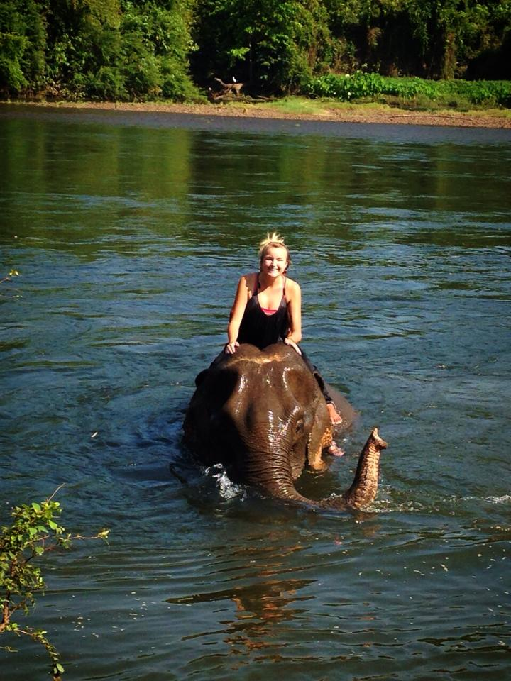 Riding an elephant after reading Eat, Pray, Love